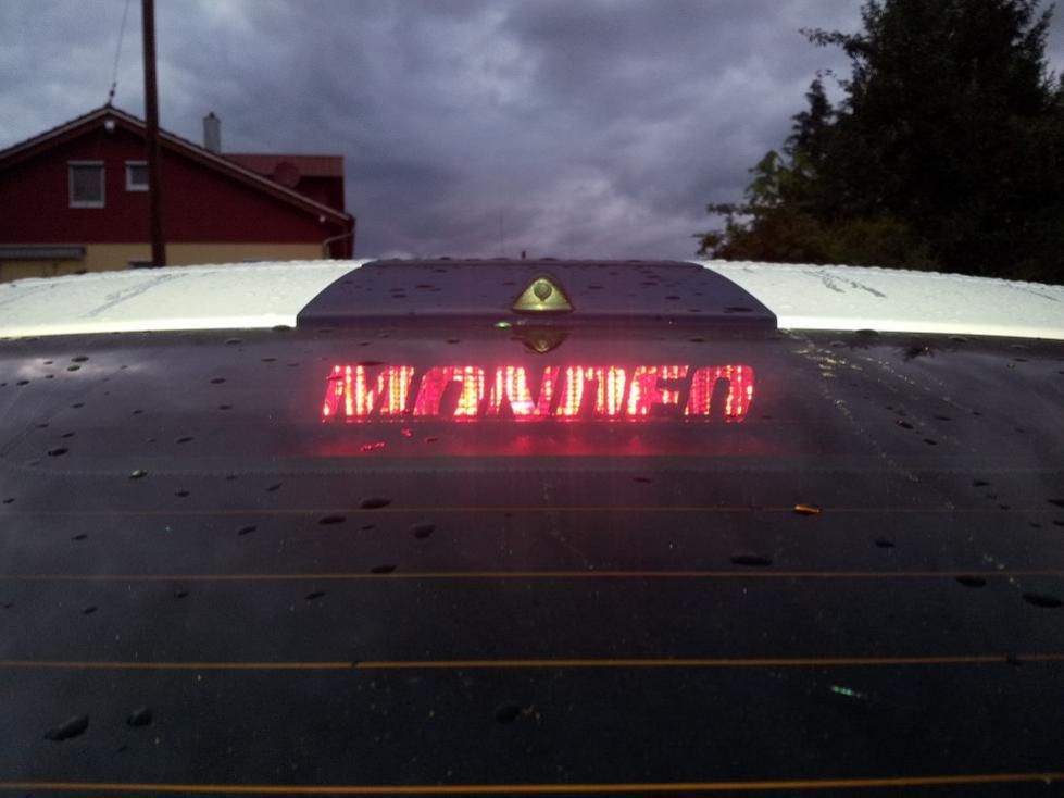 3 Bremsleuchten Aufkleber