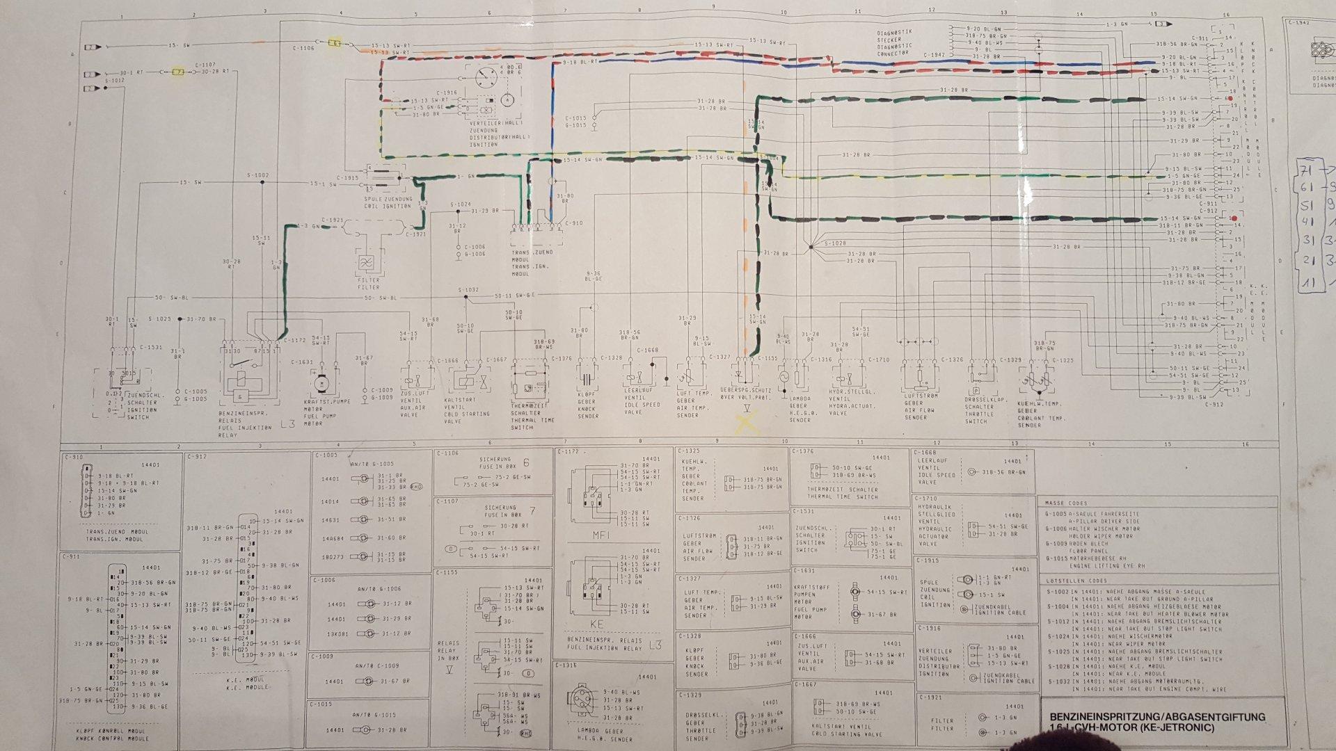 Escort 4 (Bj. 86-90) GAF/AWF/ALF - XR3I Springt nicht an ( kein ...