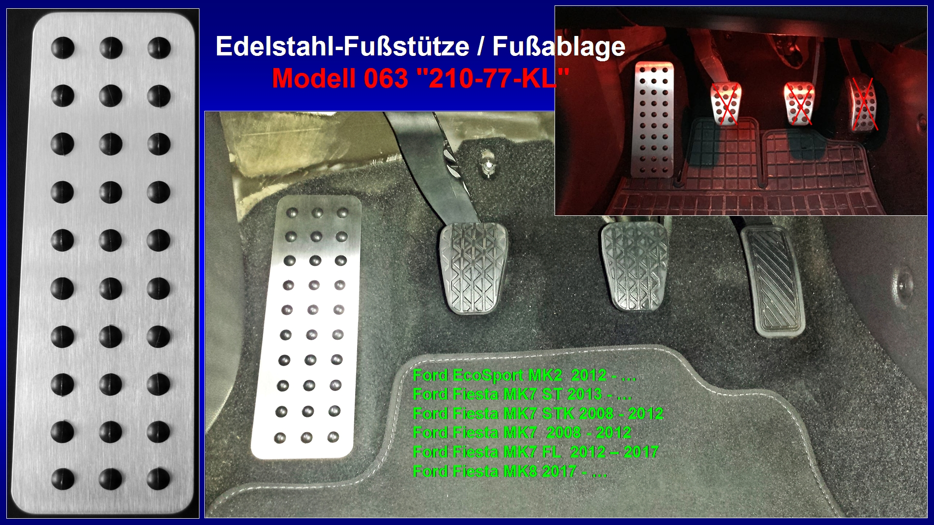 Fußstütze Fußablage Pedal Ford Mondeo MK5 ab 2014