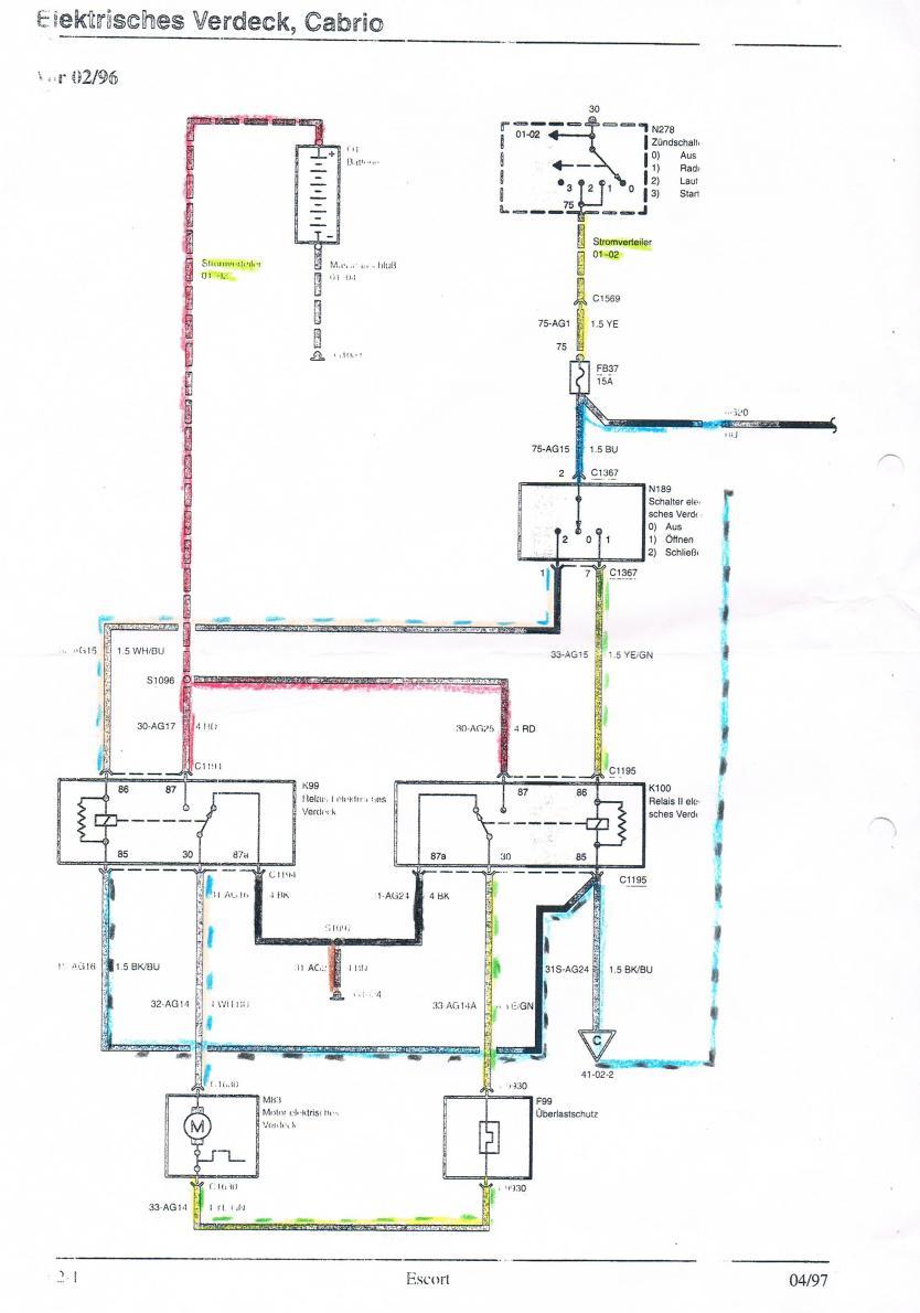 Escort 6 (Bj. 92-95) GAL/ALL/CLX - Verdeckpumpe